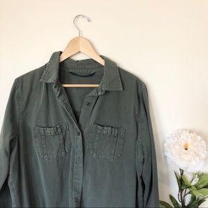 Zara   Military Green Buttondown Shirt